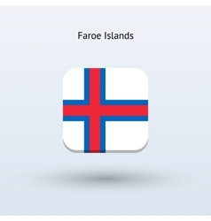 Faroe Islands flag icon vector