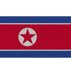 Flags korea north on denim texture vector