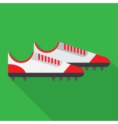 football boot flat icon vector image