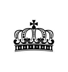 french crown isolated royal heraldry symbol vector image