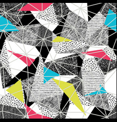 Geometric seamless pattern in retro pop-art style vector