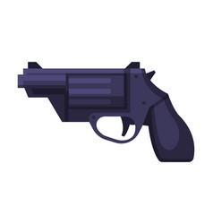 handgun hunter tackles and equipment concept flat vector image