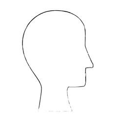 Human head silhouette vector
