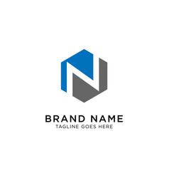 initial n logo design inspiration vector image