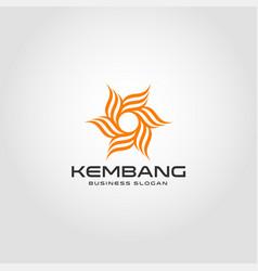 kembang - flower logo template vector image