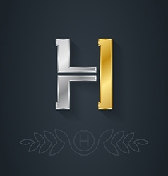 Letter H Template for company logo with monogram vector image