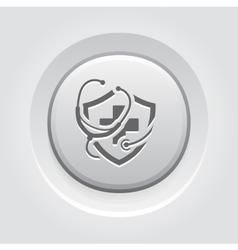 Medical Insurance Icon Grey Button Design vector