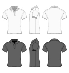Mens polo shirt and t-shirt design templates vector