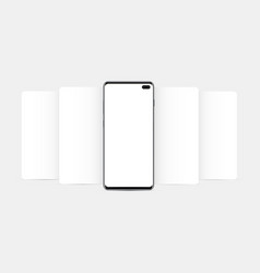 modern cellphone with blank app screens mockup vector image