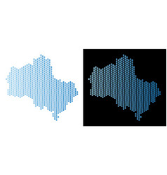 Moscow oblast map hex tile mosaic vector