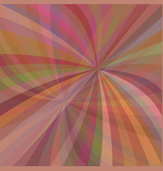 Multicolored curved ray burst background - design vector