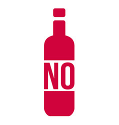 no alcohol sign with bottle isolated on white vector image