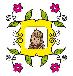 queen doodle style vector image