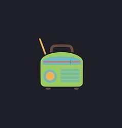 Radio computer symbol vector image
