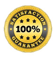 Satisfaction Guarantee Golden Badge vector image