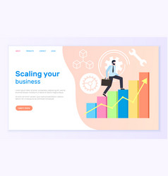scaling business worker successful businessman vector image