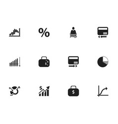 set of 12 editable logical icons includes symbols vector image