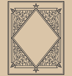 Set of vintage frames design elements for poster vector