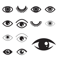 simple eye icon or logo isolated vector image vector image