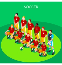Soccer Team 2016 Summer Games 3D Isometric vector image
