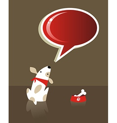 Speech bubble and dog vector