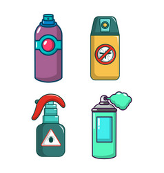 spray icon set cartoon style vector image