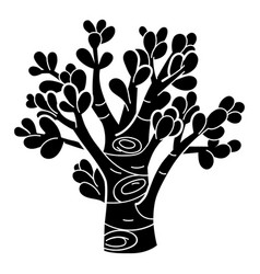 Succulent tree icon simple style vector
