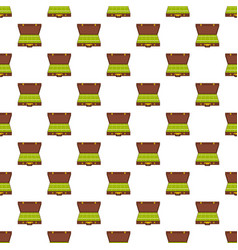 suitcase money pattern seamless vector image