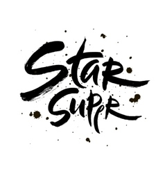 Super star lettering Hand vector