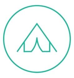 Tent line icon vector