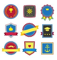 Vintage retro flat badges labels signs vector image
