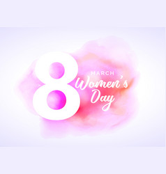 Watercolor art for womans day design vector