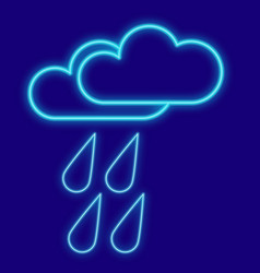 weather clouds drops rain vector image