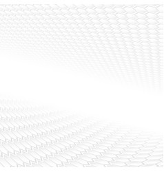 white abstract background with 3d geometric shapes vector image