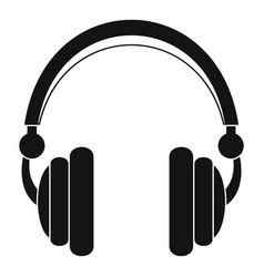 Wired headphones icon simple style vector