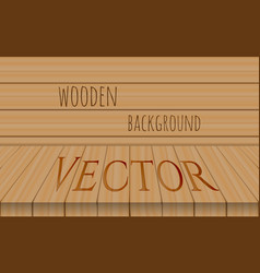 Wood perspective table top on oak vector