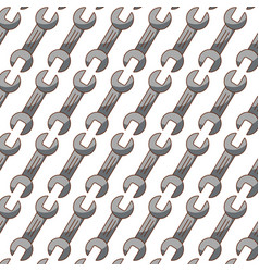 wrench tool pattern background vector image