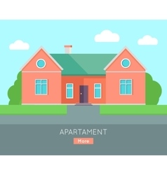 Appartment Banner Poster Template Separete House vector image
