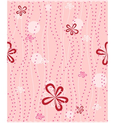 seamless background with floral pattern vector image