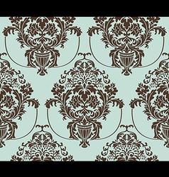 seamless damask wallpaper vector image