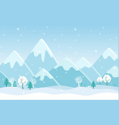 simple flat of winter vector image vector image