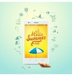 Summer poster Hello summer typographic vector image vector image