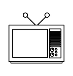 Tv old isolated icon vector