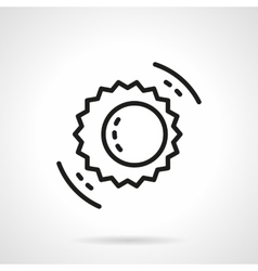 Black line solar eclipse symbol icon vector image vector image