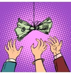 Cash bait retro vector image