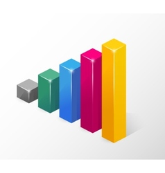 Colored Bar Chart Isolated on White vector image