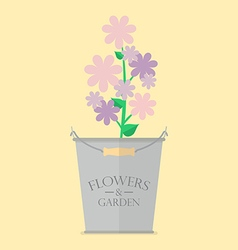 Flowers in pot vector image vector image