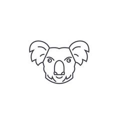 koala head line icon sign on vector image
