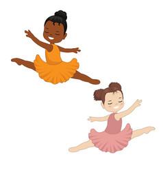 little ballerina dancing little ballerina dancing vector image