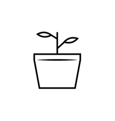 nature plant branch icon vector image